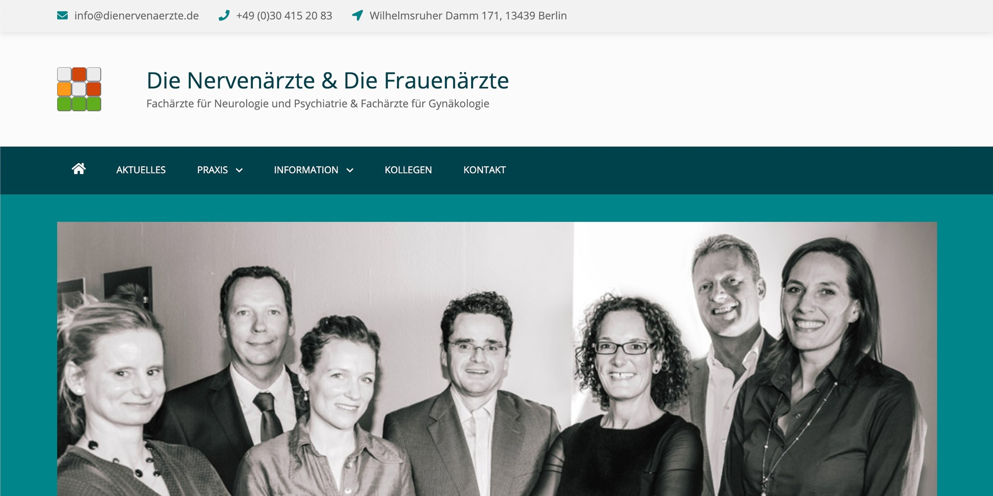 Merlin Rose Webdesign Referenzen - Die Nervenärzte