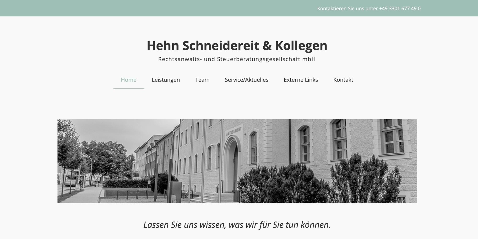 Merlin Rose Webdesign Referenzen - Hehn Schneidereit