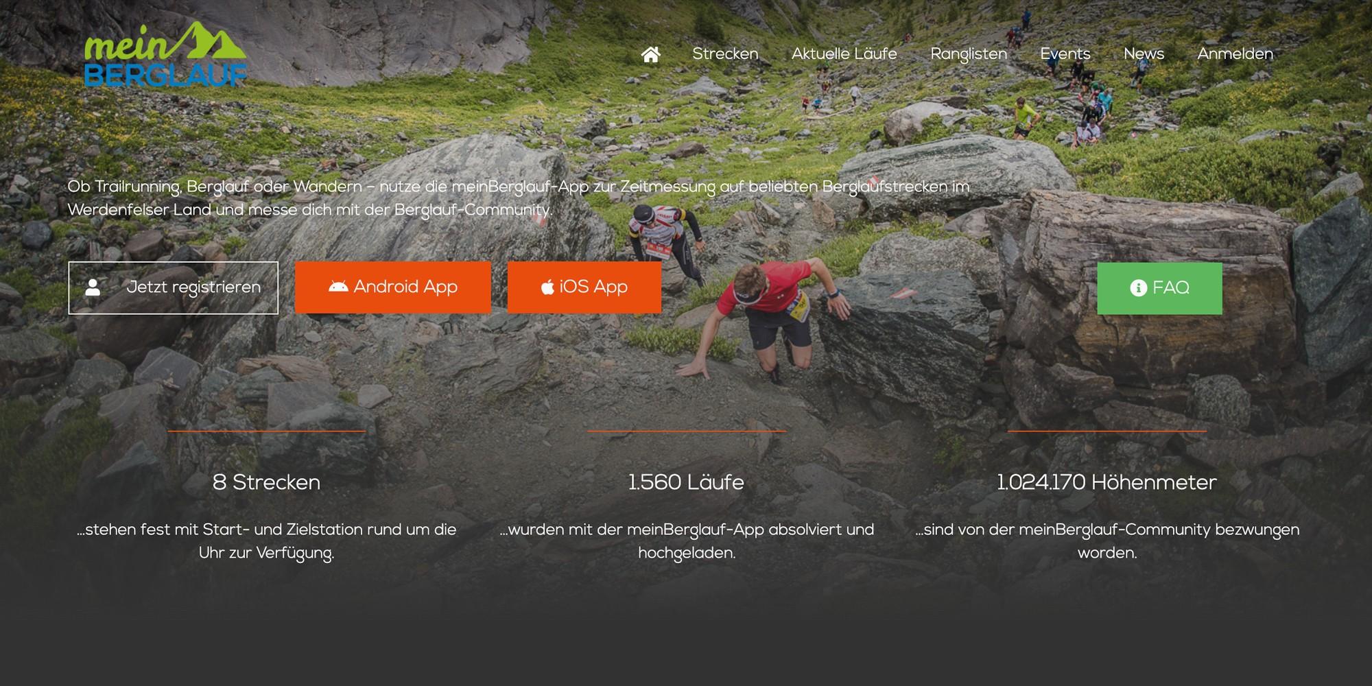 Merlin Rose Webdesign Referenzen - meinBerglauf